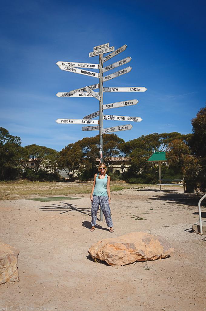 Allein durch Australien reisen Eucla Allein durch die Wüste