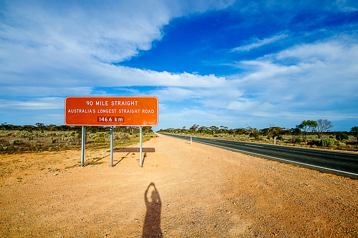 Entering The Nullarbor Longest straight road in Australia