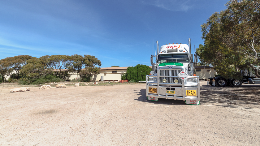 Roadtrain in Eucla