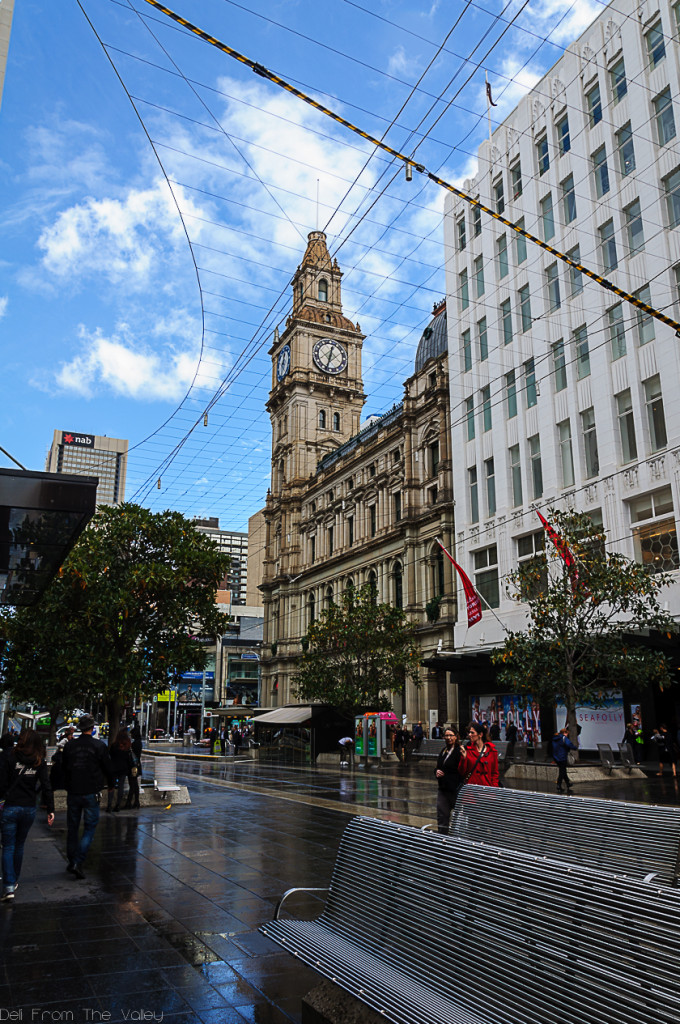 General Post Office and Pedestrian Area Melbourne