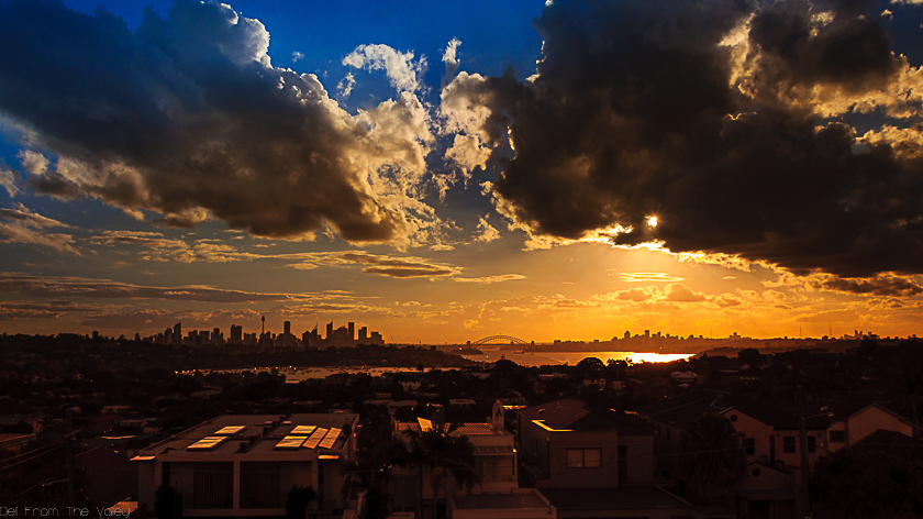 Sunset ober Sydney Skyline