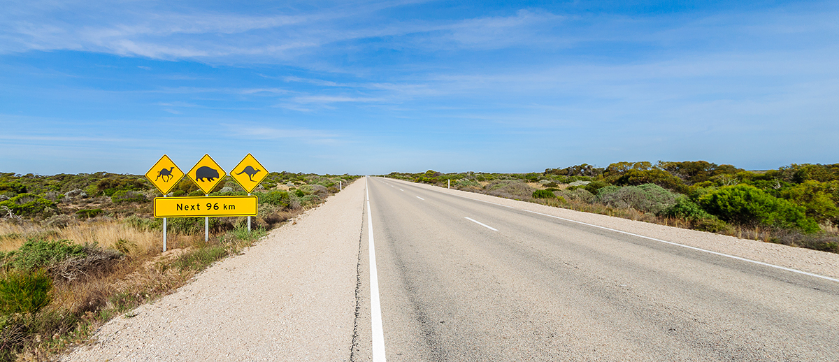 The Nullarbor Eyre Highway Roadsign